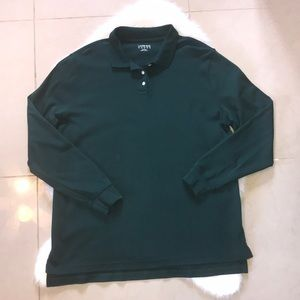 LANDS END Hunter Green Polo